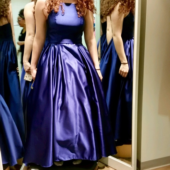 7b46d46ce1 Betsy & Adam Dresses & Skirts - Strapless Royal blue ball gown prom dress